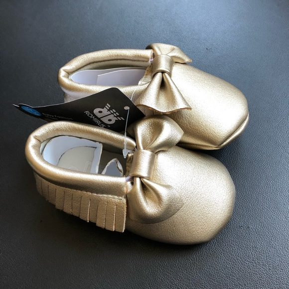 ROMIRUS moccasins  sandals VEGAN Leather soft sole baby sz 3 black girl boy
